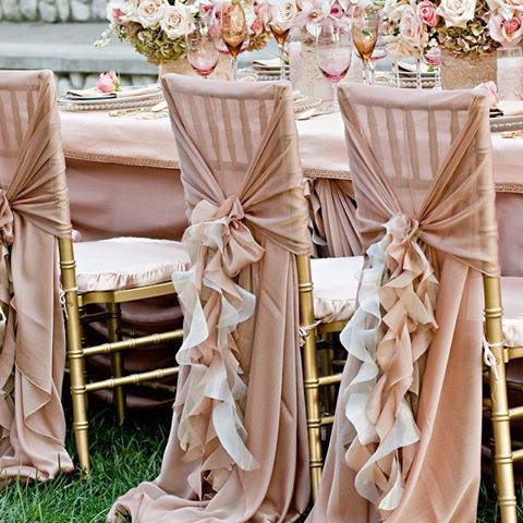 Wedding Ruffle Chair Cover